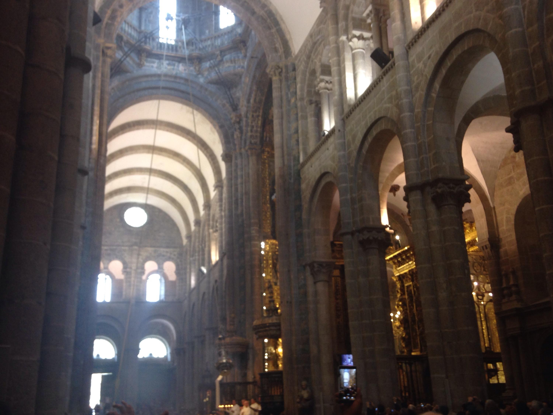 botafumeiro cattedrale santiago ritorno