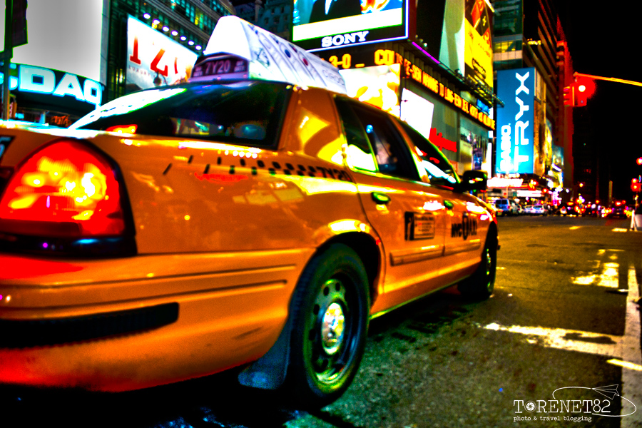 time square night new york