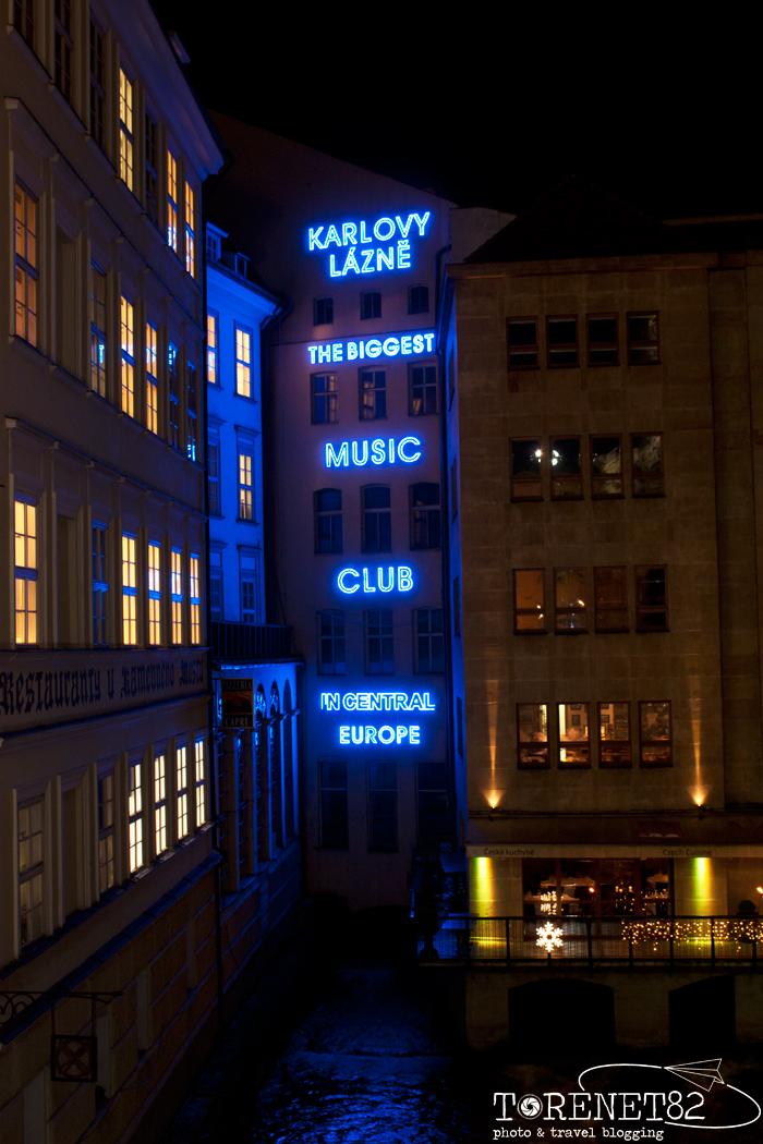 Disco Karlovy Lazne night praga