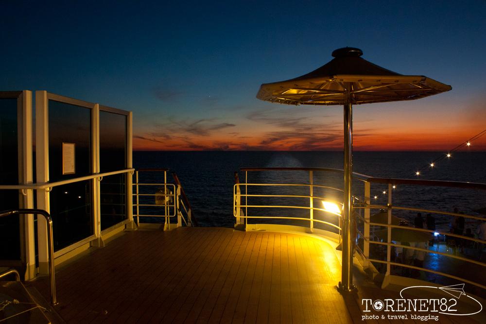 costa favolosa tramonto crociere